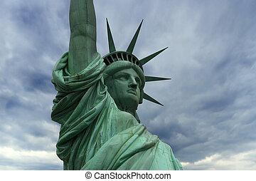 自由女神像, 在中, 纽约
