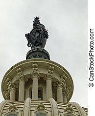 ∥, 自由 の 彫像, utop, 米国, 国会議事堂の 建物, 中に, washington d.c.