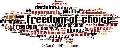 自由, 単語, 雲, 選択