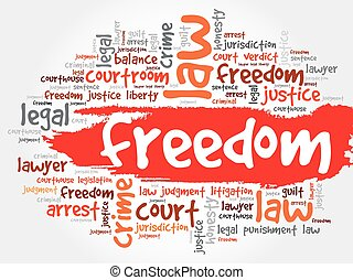 自由, 単語, 雲
