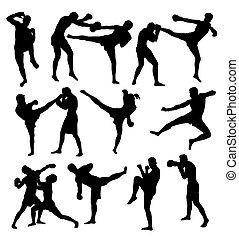 自由, 拳擊, 運動, 活動