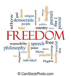 自由, 概念, 単語, 雲