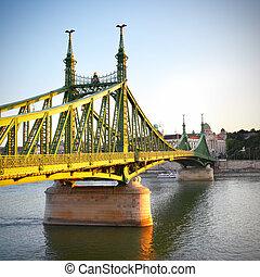自由, 橋梁, 在, 布達佩斯