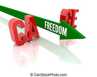 自由, 詞, 箭
