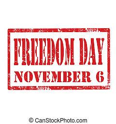 自由, day-stamp