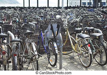 自行車, 停車處, 地方