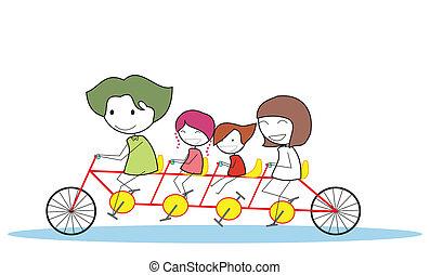 自行車, 家庭