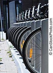 自行車, 輪胎, 在一行中