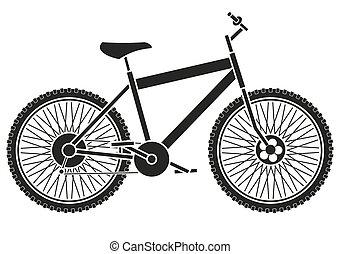 自行車, 黑色半面畫像