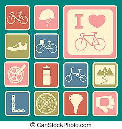 自行车, 图标