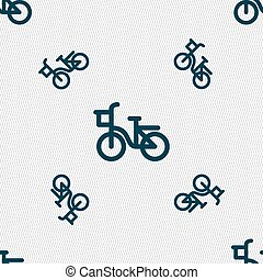 自行车, 图标, 标志。, seamless, 模式, 带, 几何学, texture., 矢量