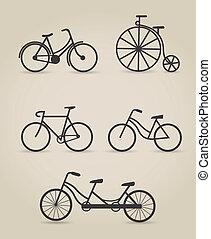 自行车, 放置