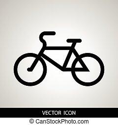 自行车, 矢量, 描述, 图标