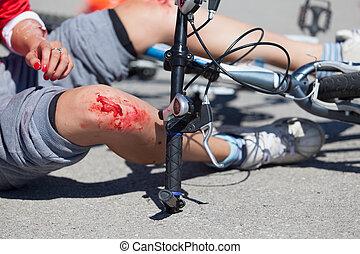 自行车, 落下, 伤害