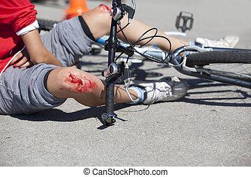 自行车, 落下