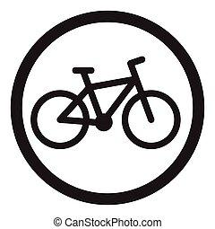 自行车, 黑色, 图标