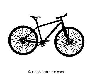自行车, silhouette., 矢量, 说明者
