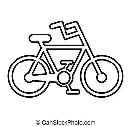 自転車, シルエット, 隔離された, アイコン