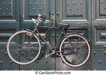 自転車, 上に, a, 門, 中に, ローマ