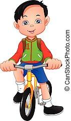自転車, 男の子