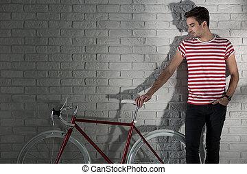 自転車, 私, 友人