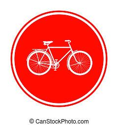 自転車, 赤, 印