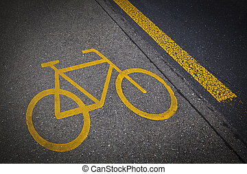 自転車, 道, 印