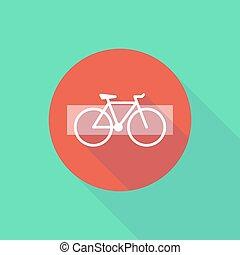 自転車, 長い間, 入りなさい, ない, 影, アイコン