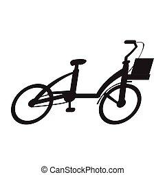 自転車, 隔離された, アイコン