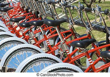 自転車, 駐車される
