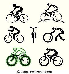 自転車, icons.