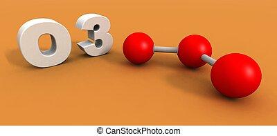 臭氧, 分子