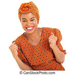 興奮させられた, アフリカ, 女の子