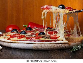 舉起, 比薩餅