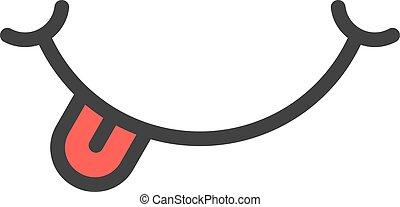 舌头, smiley, 红, 图标