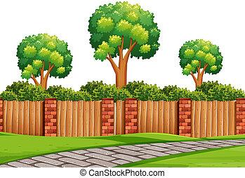 舗装, 自然, 現場