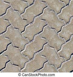 舗装, slabs., seamless, texture.