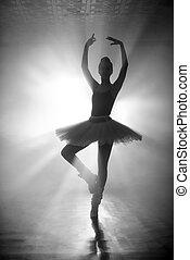 舞蹈演員, 黑色半面畫像