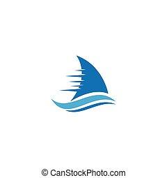 航海, ロゴ, ボート