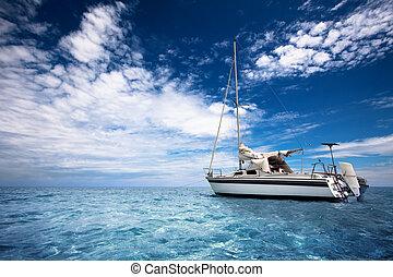 航海, 中に, パラダイス