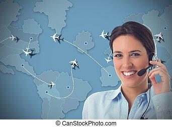 航空会社, 呼出し 中心