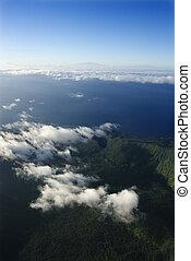 航空写真, の, maui.