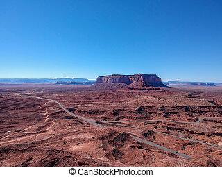 航空写真, アメリカ, アリゾナ, モニュメント峡谷, 光景