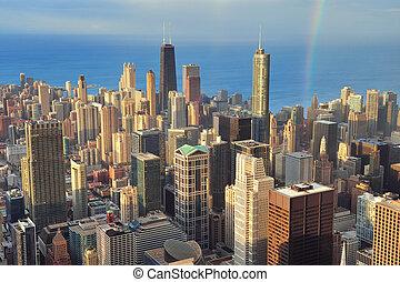 航空写真, シカゴ, 光景
