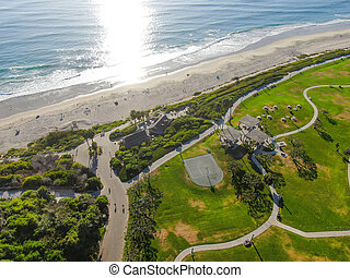 航空写真, 君主, 光景, 浜, 海岸線