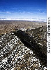 航空写真, 山の景色, colorado.