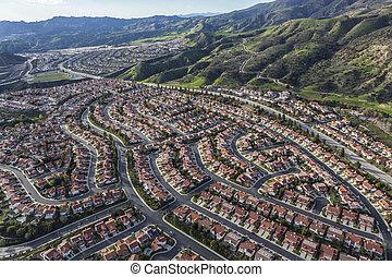 航空写真, 牧場, アンジェルという名前の人たち, los, カリフォルニア, ポーター, 光景