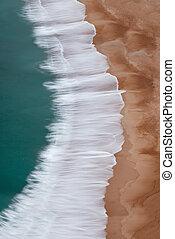 航空写真, 縦, イメージ, 波, 光景, 浜, 衝突