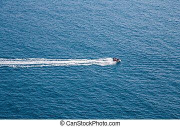 航空写真, 運転, 恋人, ジェット機スキー, 海の 眺め