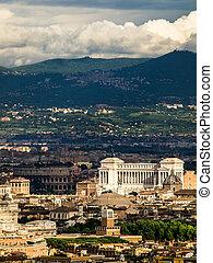 航空写真, italy., ローマ, 光景